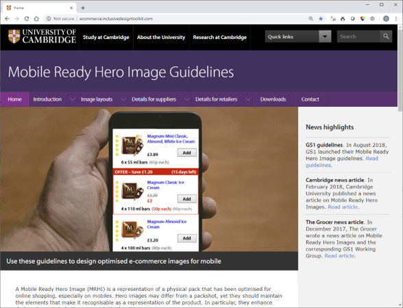 Mobile Ready Hero Image guidelines for e commerce