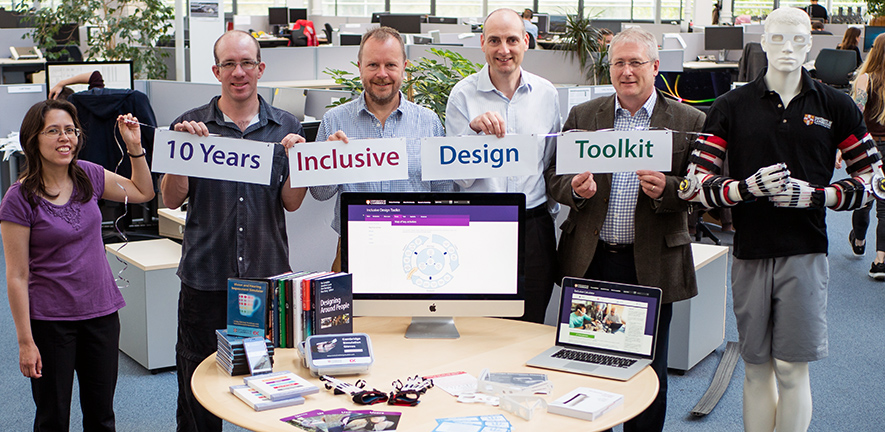 photograph of the inclusive design team celebrating the 10th anniversary of the inclusive design toolkit